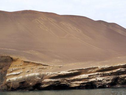 Le Chandelier de Paracas, géoglyphe d'environ 180 m de long et 70 m de large