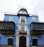 Maison aux balcons coloniaux en bois, Lima