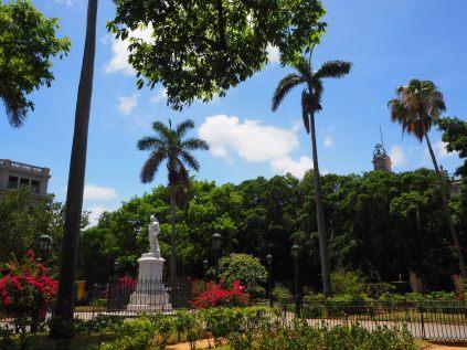 La statue de Carlos Manuel de Céspedes, héros de la guerre d'indépendance, près de la Plaza de Armas