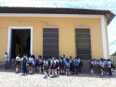 Des étudiants à Trinidad
