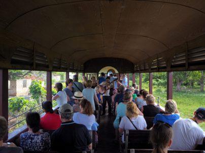 A bord du train à vapeur pour découvrir la Vallée de los Ingenios (Trinidad)