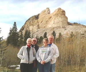 Two Sower couples worked at the camp in October.  The team went to visit the Crazy Horse Monument one week-end.  Amy and Tony and Jenny and Don