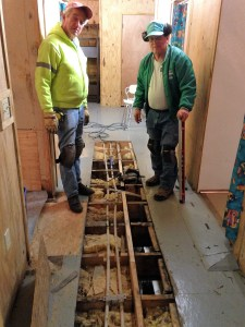 Dan and Don have the demo and plumbing repair done and decide what is the best way to replace flooring.