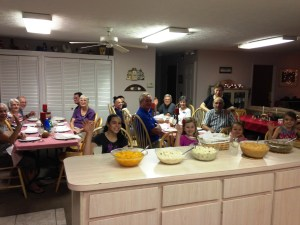 The residents fixed a supper for the SOWER team.