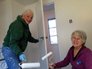 We spent most of our time repairing and painting two staff houses. Judy and Barb painting away.