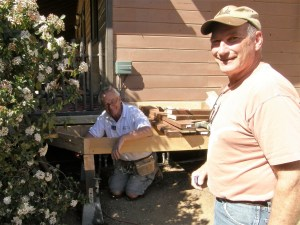 Joe doing his Group Leader thing and inspecting the progress of the ramp builders.