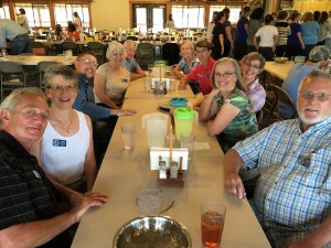 The group enjoyed an appriciation dinner along with Andrew and Tami, the camp's SOWER interface couple, of BBQ tri-tip that the camp provided.
