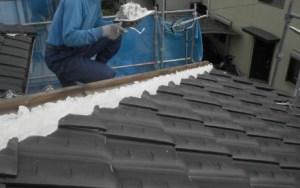 屋根瓦 修理 漆喰 塗り直し