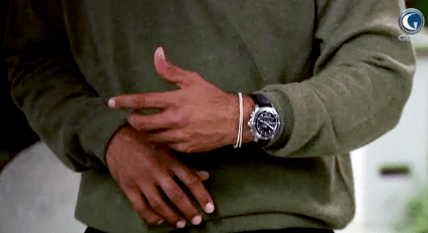 Tiger Woods wears a Buddhist bracelet for protection and strength