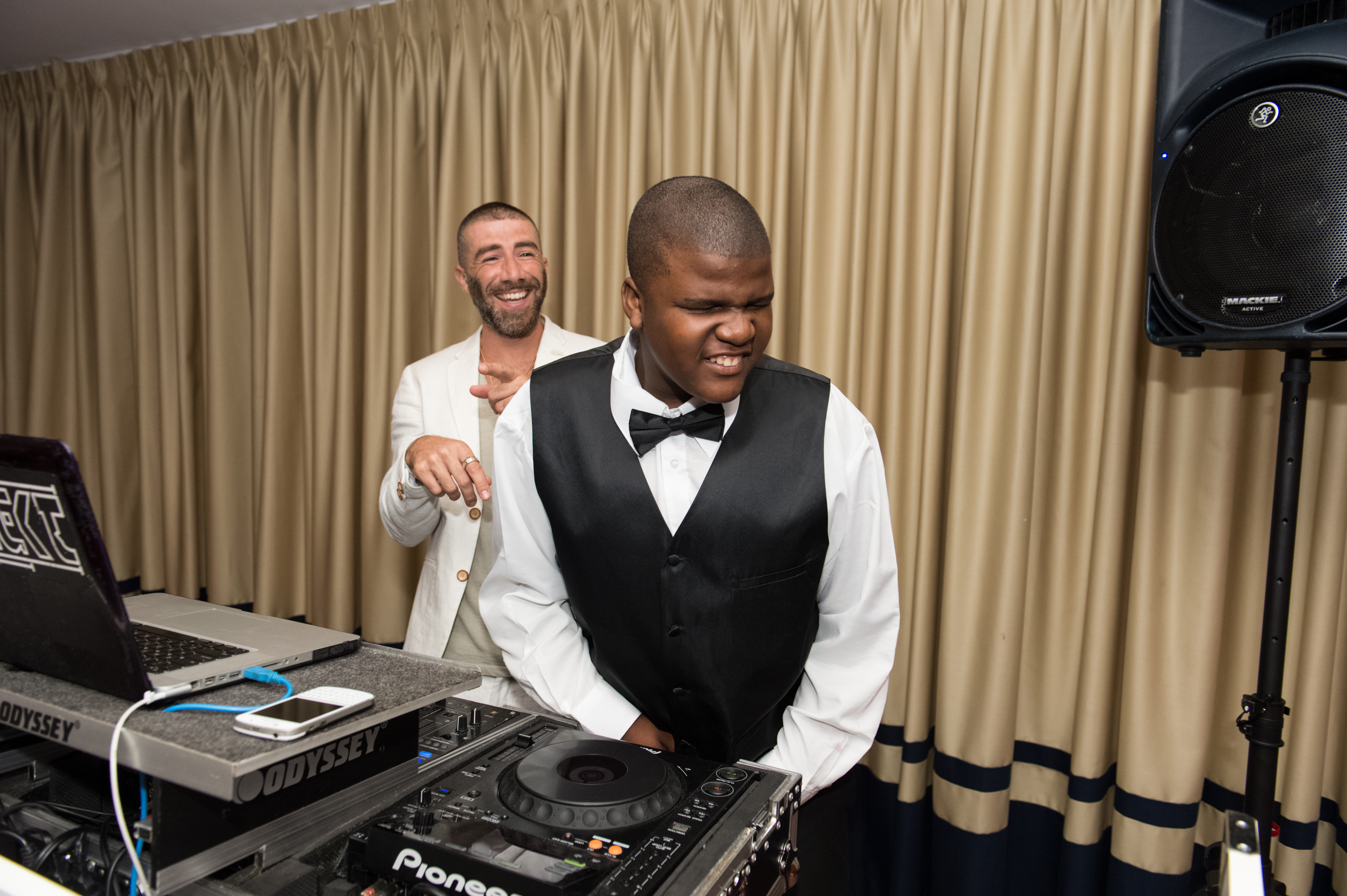 DJ ARKITEK and Nassan Arbubakrr perform at the National Autism Day Dinner at Cipriani in downtown Miami.