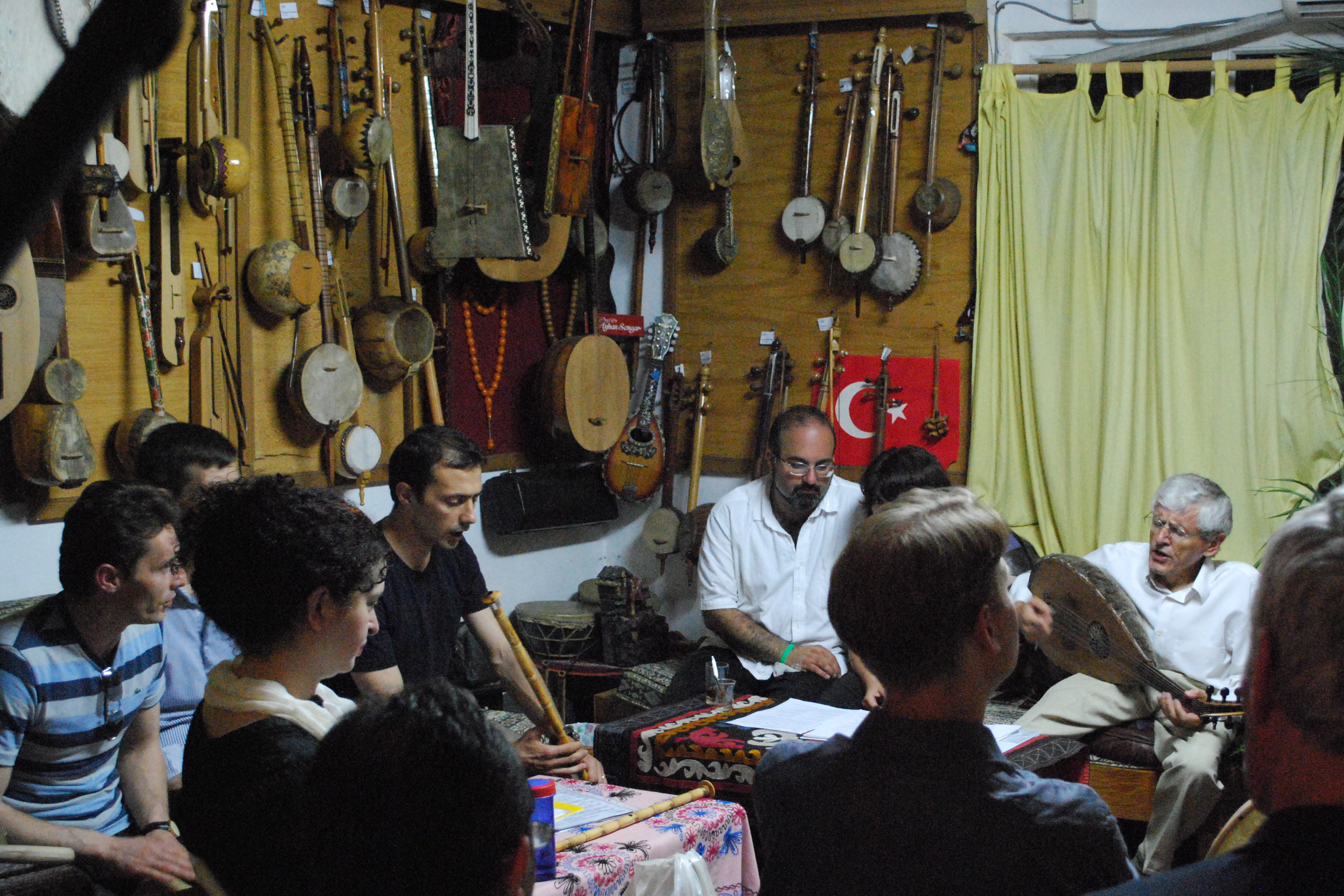 Omid Safi attends as Orüç Güvenç leads a Sufi music workshop in Istanbul, Turkey in 2012.
