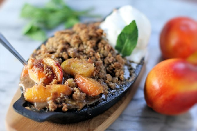 Nectarine Crisp Recipe | www.onbetterliving.com