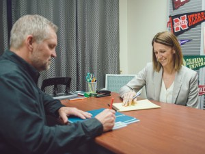 College coaches Tom and Stephanie work together to help student athletes.