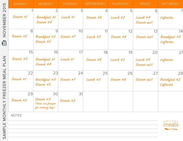 Using Freezer Meals to Plan Dinner - Once a Month Meals