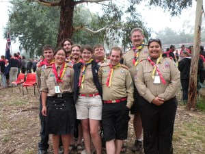 Kim at OzMoot as contingent leader with the rest of the Canadians