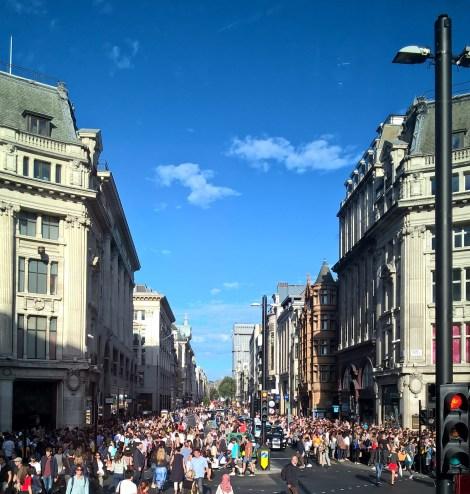 La foule sur Oxford Street