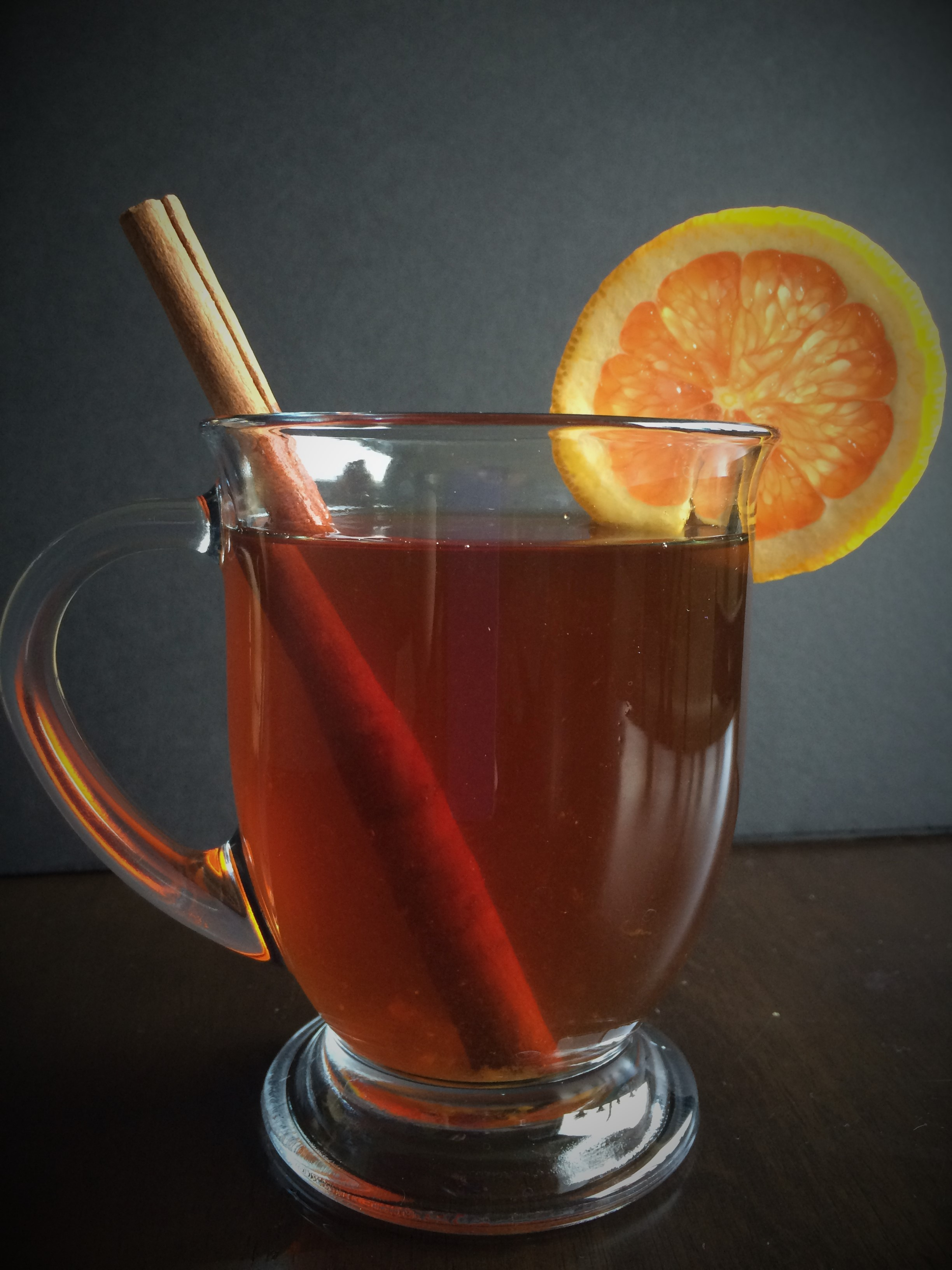 Orange Spiced Rum Hot Tea Toddy Once In A Blue Spoon