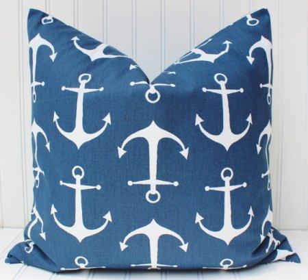 Navy Blue Anchor