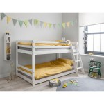 Mid Sleeper Bunk Bed White Affordable Bedroom Makeover Onceit