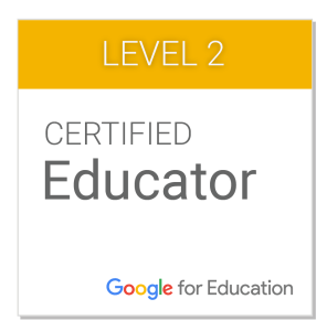 Certified Google Educator