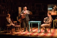 Landmark Productions presents Once at the Olympia Theatre, 30 June - 26 August, 2017 oncemusical.ie L-R Niamh Perry as Girl, David Ganly as Bank Manager and Brian Gilligan as Guy Photo:Patrick Redmond