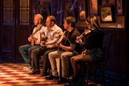 Landmark Productions presents Once at the Olympia Theatre, 30 June - 26 August, 2017 oncemusical.ie L-R Rickie O'Neill, David Ganly, Bob Kelly and Faoileann Cunningham. Photo:Patrick Redmond