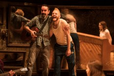 Landmark Productions presents Once at the Olympia Theatre, 30 June - 26 August, 2017 oncemusical.ie L-R Phelim Drew as Billy and Rickie O'Neill as Svec. Photo:Patrick Redmond