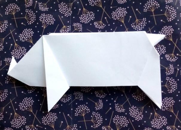 origamiglücksschwein