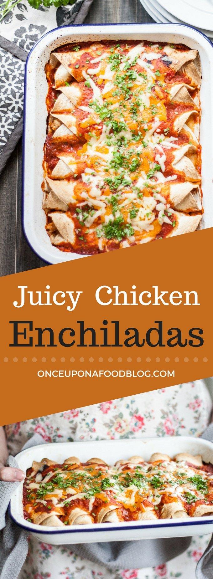 Juicy Chicken Enchiladas