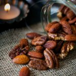 Roasting these nuts really improves both their flavour and texture and the spices take things to the next level. Great as a nibble with a glass of something or as part of a buffet.