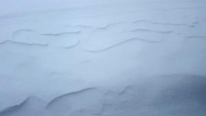 Snow fall on the back deck once upon alaska