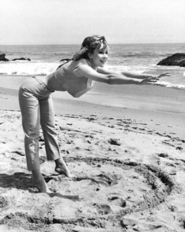 Barbara Eden does Yoga