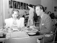 Ida Lupino and Jeffrey Lynn at the Warner Bros. Commissary
