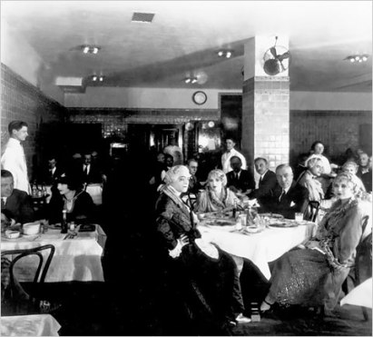 The Astor Room in its earlier incarnation as the commissary of the Kaufman Astoria Studios.
