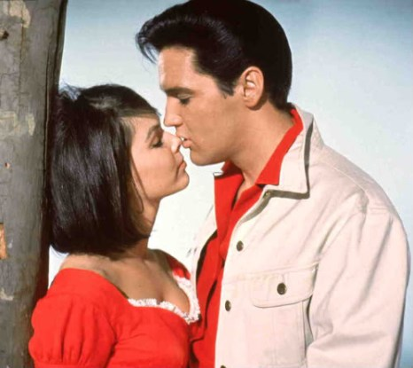 Brunette Elvis with Yvonne Craig