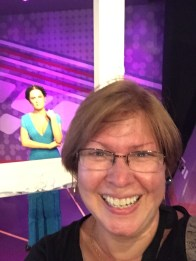 Selma Hayek looking over my shoulder
