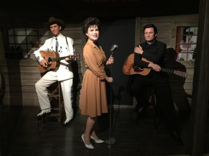 This country music section includes Hank Williams, Patsy Kline and Johnny Cash