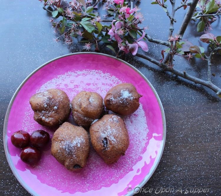 Cherry Fritters — of cherries, cherry blossom and cheer!