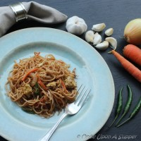 Indian style Chowmein -- and a peep into India's street fast food culture