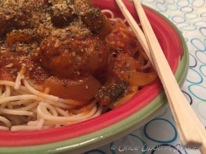 My favorite Spaghetti and Meatballs with mushroom -- cook it up like Nonna!