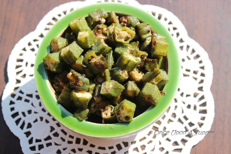 Dum ki Bhindi — spiced, sealed and slow cooked Okra