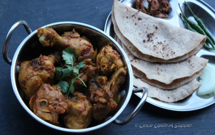 Bhuna Murgh or Kosha Murgir Mangsho — South Asian Pan Seared spicy Chicken