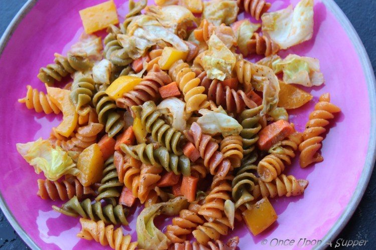 French vegetable Rotini Salad -- has quite the crunch you need!