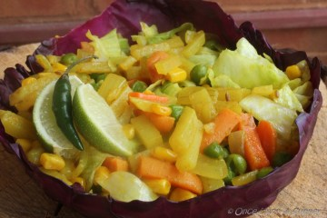 Indian style farm salad -- goodness and greens from farm to your table