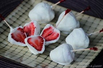 Frozen Yogurt covered Strawberry Popsicles - a happy healthy celebration!