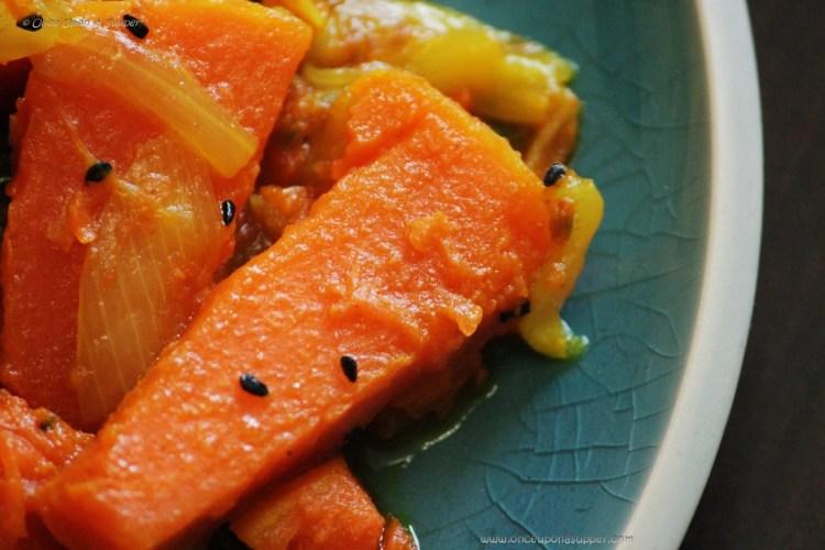 Kumror Chechki -- Bengali style delicious fried pumpkin