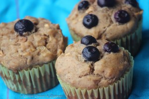 Eggless whole wheat mixed fruit muffins -- both a trick and a treat!