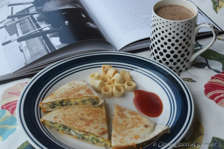 Egg and veggie breakfast Quesadilla — easy and nutrition rich Mexican favorite