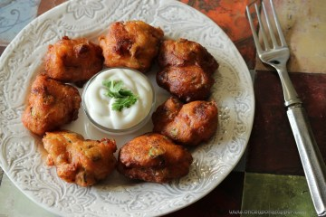 Spicy Southern Fried Okra Sriracha Fritters