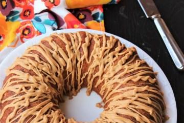 Breakfast Bundt Cake with Peanut Butter glaze